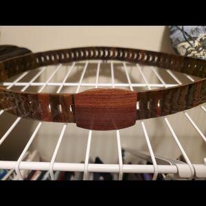 Unique wooden belt